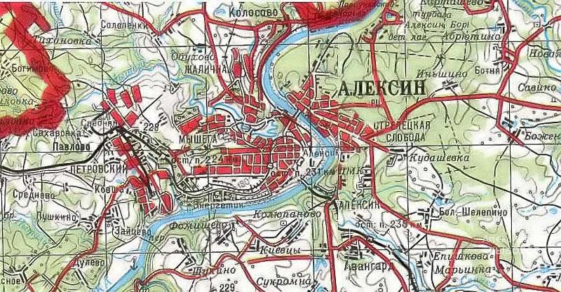 Карты города Алексина